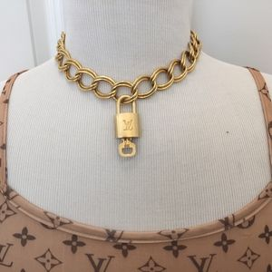 AUTHENTIC LOUIS VUITTON LOCK & KEY SET NECKLACE